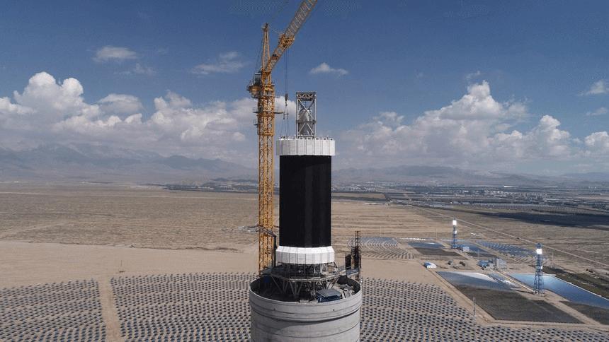 德令哈 50MW 光熱電站建設照片